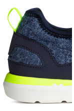 Sneakers in jersey - Blu scuro mélange -  | H&M IT 3