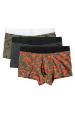 3-pack boxer shorts - Khaki green/Patterned - Men | H&M CN 2