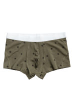 3件入四角褲 - Khaki green/Patterned - Men | H&M 3