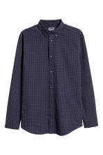 Premium cotton shirt - Dark blue/Checked - Men | H&M 2