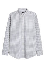 Premium cotton shirt - Grey/Checked - Men | H&M 2