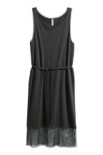 Dress with mesh trims - Black -  | H&M 2