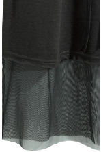 Dress with mesh trims - Black -  | H&M 3