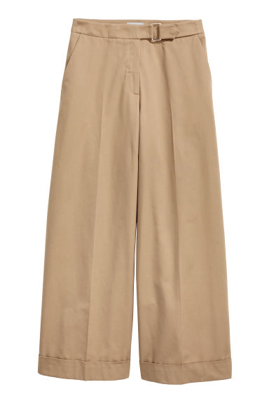 Wide trousers - Beige - Ladies | H&M