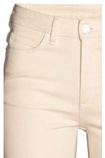 Slim High Waist Jeans - Natural white denim - Ladies | H&M CN 4