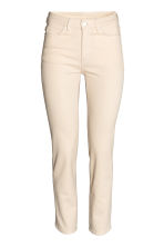 Slim High Waist Jeans - Natural white denim - Ladies | H&M IE 2