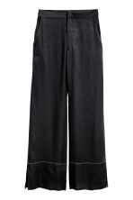Pantaloni ampi in seta - Nero - DONNA | H&M IT 2