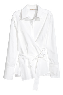 Cotton wrapover shirt