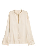 Silk blouse - Light beige - Ladies | H&M 2