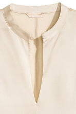Silk blouse - Light beige - Ladies | H&M 4