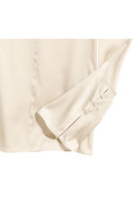 Silk blouse - Light beige - Ladies | H&M 3