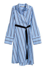 Striped shirt dress - Blue/Striped - Ladies | H&M CN 2
