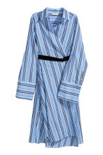 Striped shirt dress - Blue/Striped - Ladies | H&M CN 3