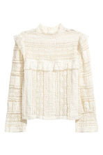 Frilled lace blouse - White - Ladies | H&M CN 2