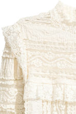 Frilled lace blouse - White - Ladies | H&M CN 3