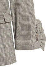 Jacket with frill details - Grey/Checked -  | H&M GB 3