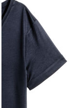 Lyocell jersey top - Dark blue -  | H&M CA 2