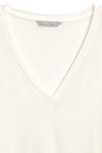 Lyocell jersey top - Natural white - Ladies | H&M 2