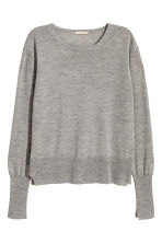 Cashmere-blend jumper - Grey marl - Ladies | H&M CN 2