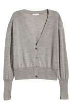 Cardigan in misto cashmere - Grigio mélange - DONNA | H&M IT 2