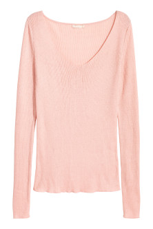 Silk-blend V-neck jumper