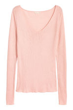 Silk-blend V-neck jumper - null -  | H&M CN 2