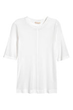 Silk top - White -  | H&M CA 2