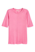 Silk top - Pink - Ladies | H&M CA 2