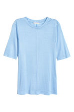 Silk top - Light blue - Ladies | H&M CA 2