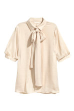 Pussybow blouse - Light beige - Ladies | H&M CN 2