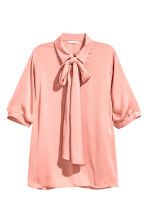 Pussybow blouse - Powder pink - Ladies | H&M CN 2