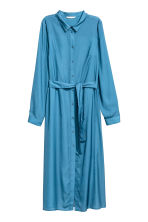 Satin shirt dress - Blue - Ladies | H&M CN 2