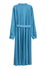 Satin shirt dress - Blue - Ladies | H&M CN 3