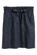 Lyocell-blend skirt - Dark blue - Ladies | H&M 2