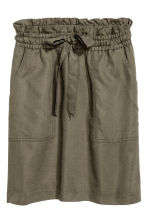 Lyocell-blend skirt - Khaki green - Ladies | H&M CN 2