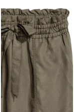 Lyocell-blend skirt - Khaki green - Ladies | H&M CN 3