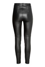 Leather trousers - Black - Ladies | H&M CN 3