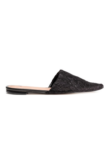 Lace slip-ons - Black -  | H&M