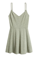 Short jersey dress - Khaki green marl -  | H&M 2