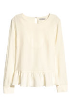 Silk blouse - Natural white - Ladies | H&M 2