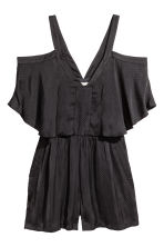 Cold shoulder playsuit - Black -  | H&M CA 2