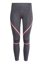 Sports tights - Dark grey marl - Ladies | H&M 2