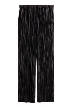 Pleated trousers - Black - Ladies | H&M GB 2