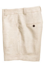 Linen-blend shorts - Natural white -  | H&M CN 3