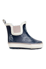 Patterned rubber boots - Dark blue/Robot - Kids | H&M CN 1
