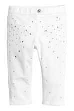 3/4-length denim leggings - White - Kids | H&M 2