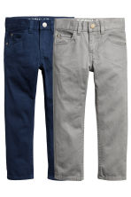 2-pack Trousers Regular fit - Dark blue/Grey -  | H&M CN 2