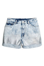 Denim shorts - Denim blue/Acid - Ladies | H&M CA 2