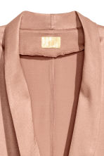 Long satin coat - Powder - Ladies | H&M CN 3