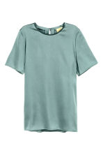 Short-sleeved top - Dusky green - Ladies | H&M CN 2